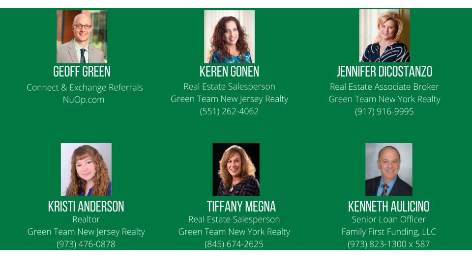 Green Team Realty Housing Market Update Panelists for Jan 2021