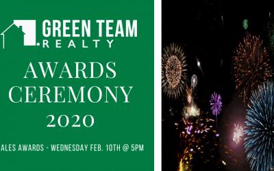 Green Team Realty 2020 Sales Awards