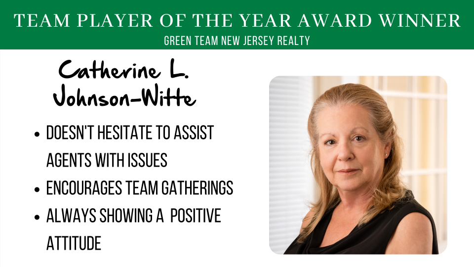 Green Team New Jersey Realty's 2020 Team Player Award