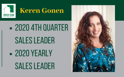 Keren Gonen 2020 4th Quarter and Yearly Sales Leader