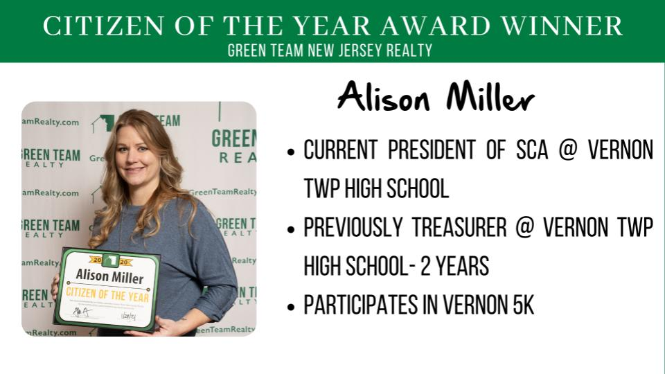 Green Team Realty 2020 Citizen of the Year