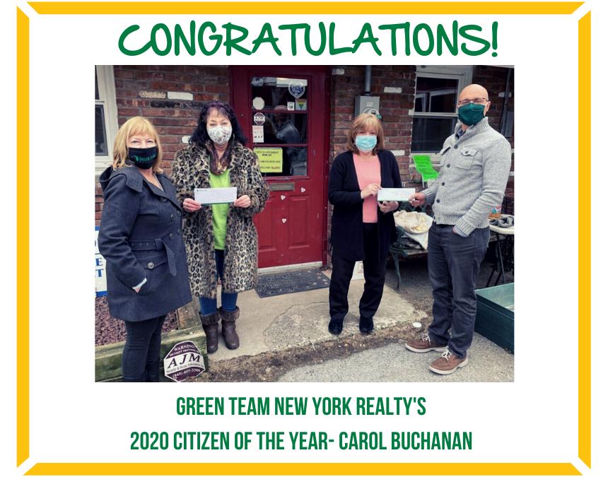 Carol Buchanan donates Citizen of the Year Prize Money to Local Charities