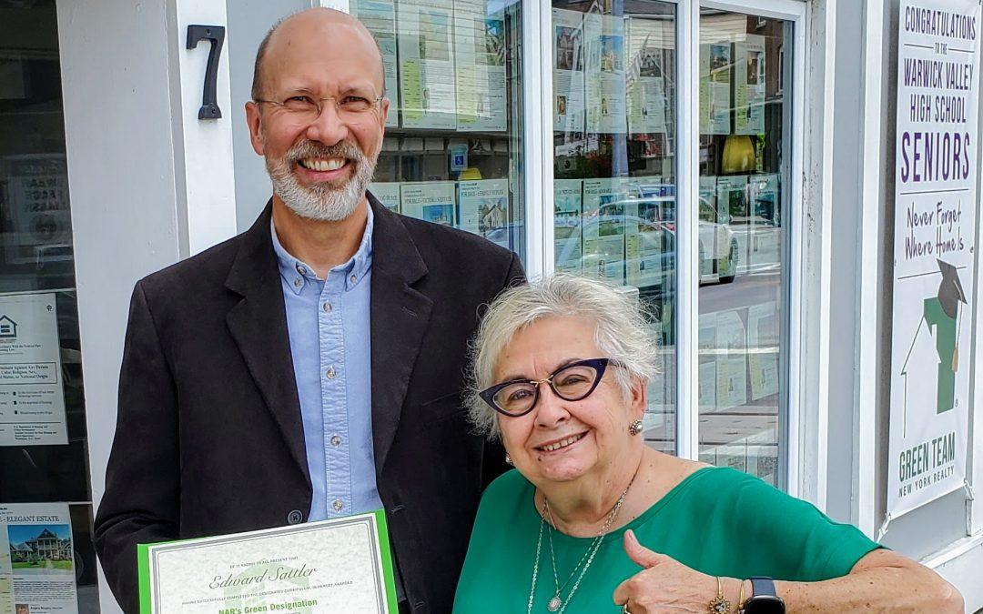 Edward Sattler Earns NAR's Green Designation
