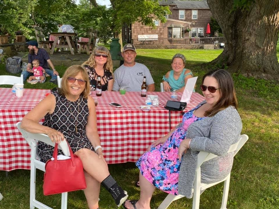 Relaxing at the 2021 Green Team Summer Social