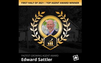 Edward Sattler Top Agent Award