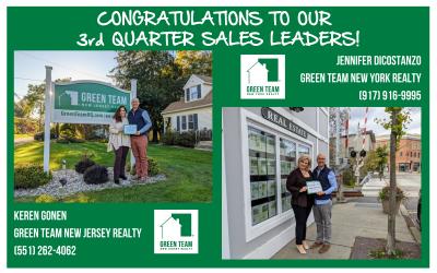 3rd Quarter 2021 Sales Leaders