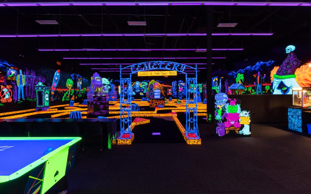 Monster Mini and Golf Glow-Long Island's Glowing Miniature Golf Courses