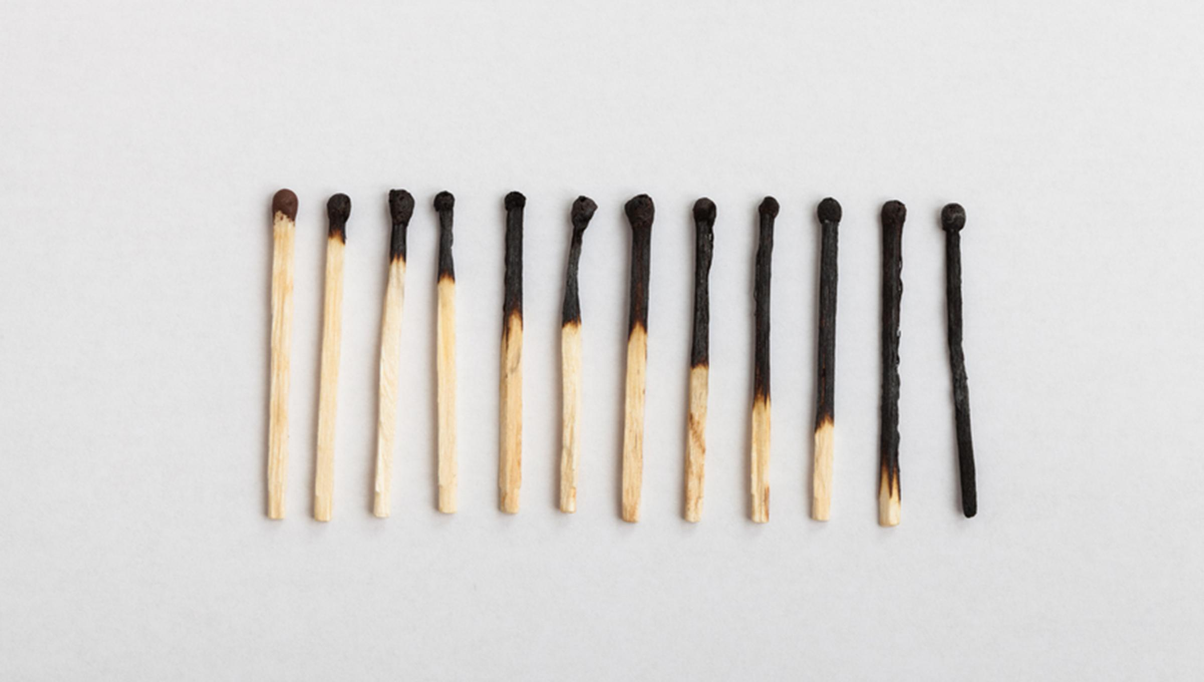 burnt matches picture