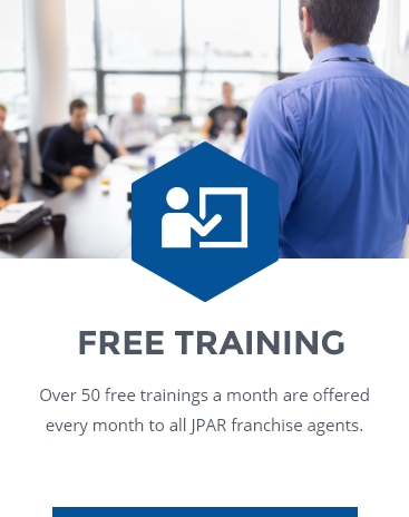 FREE TRAINING: Over 100 live training sessions per month are offered to all JPAR  agents for free. In addition, agents get access to multiple training libraries of pre-recorded classes.