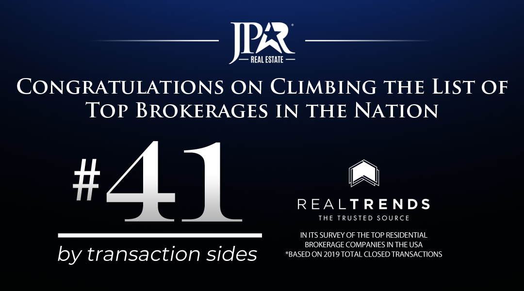 JP & Associates REALTORS® Climbs The List of Top Brokerages in the Nation, REAL TRENDS 500 for 2020