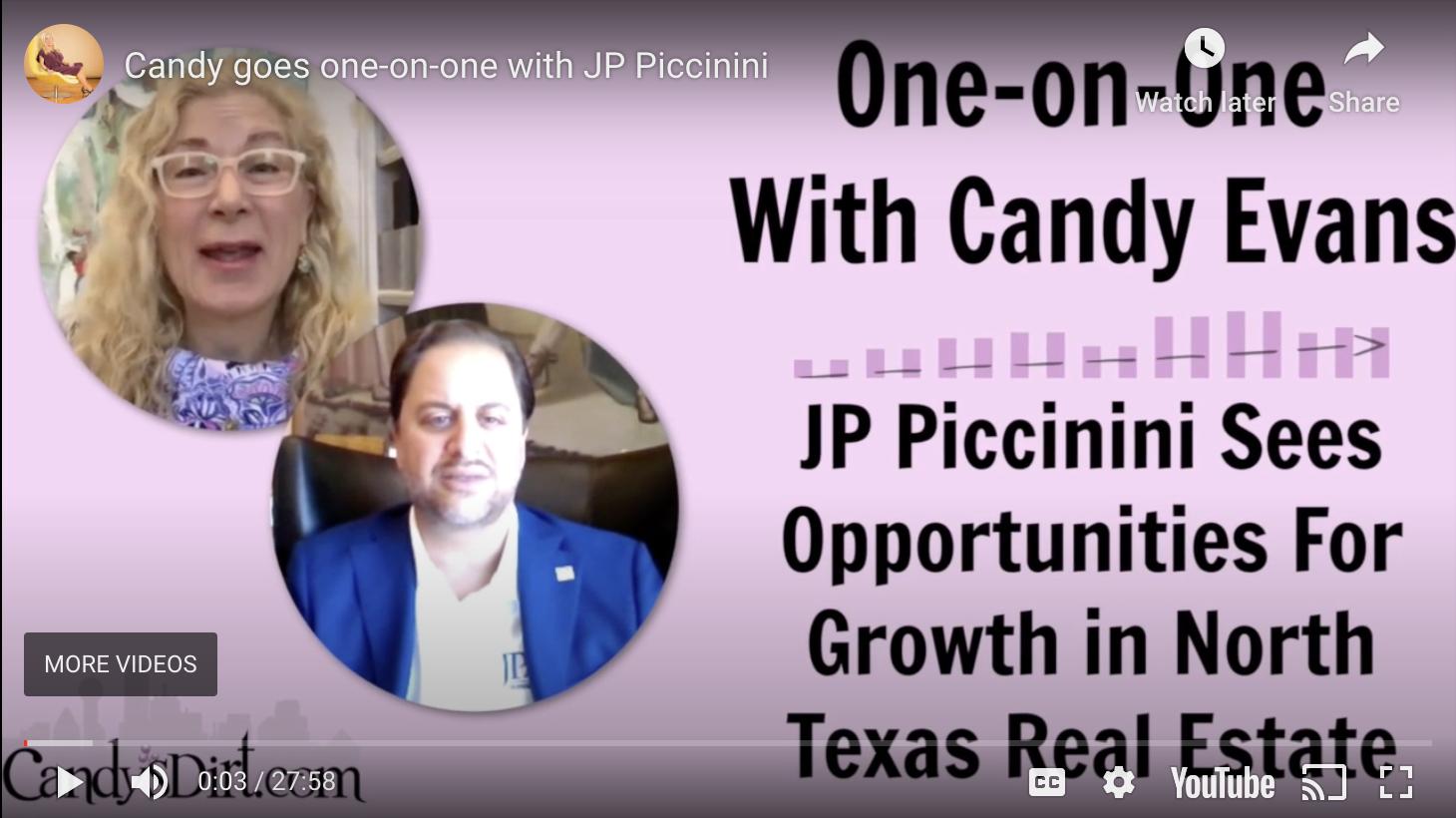 Candy Interviews JP Piccinini, Owner of JP & Associates REALTORS?