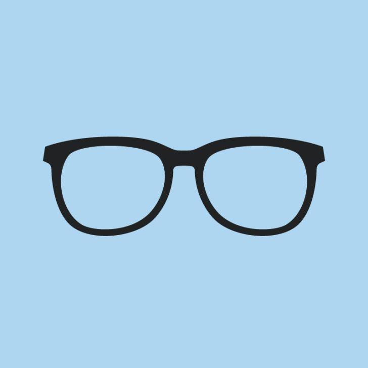 eyeglasses on blue background
